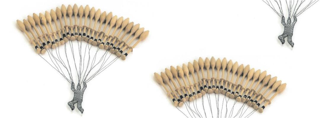 Elodie Antoine parachutiste en dentelle aux fuseaux A